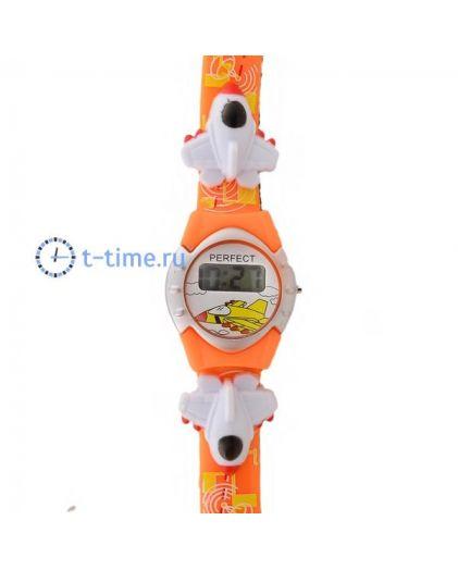 Часы PERFECT Самолет оранж