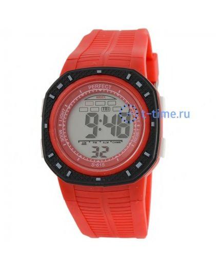 Часы PERFECT 615 крас LCD sport