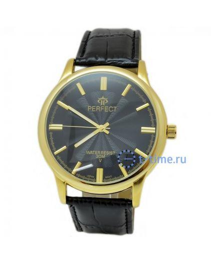 Часы PERFECT 593 C корп-желт,циф-чер ремень