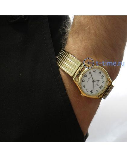 PERFECT 654 Х корп-золотой,циф-бел,резинка