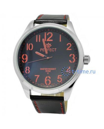 Часы PERFECT 031 W корп-хр,циф-чер с красн
