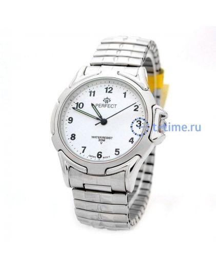 Часы PERFECT 001 Х корп-хр,циф-бел резинка
