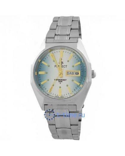 Часы PERFECT 186 B корп-хр,циф-бледно голуб