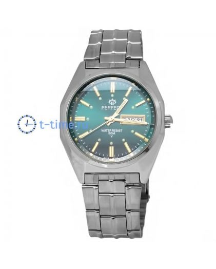 Часы PERFECT 186 B корп-хр,циф-зел