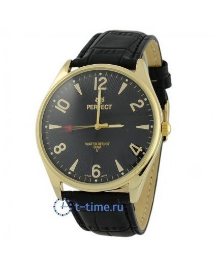 Часы PERFECT 141 C корп-желт,циф-чер