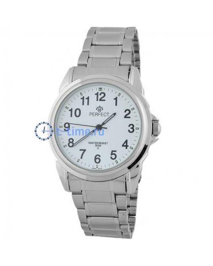 Часы PERFECT 870 P корп-хром,циф-бел