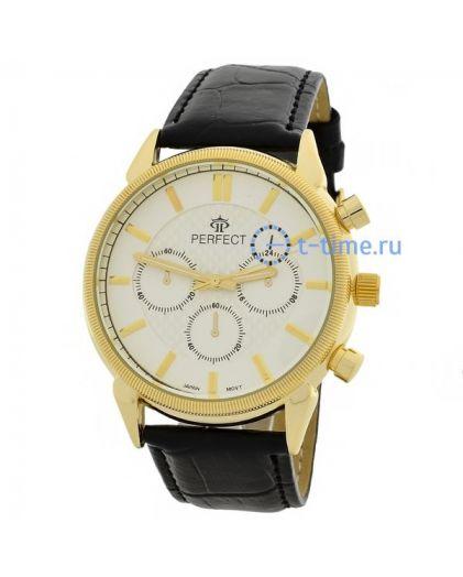 Часы PERFECT 169 W корп-жел,циф-перл