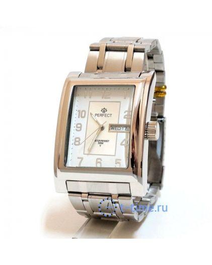 Часы PERFECT 001В М корп-хр,циф-перл
