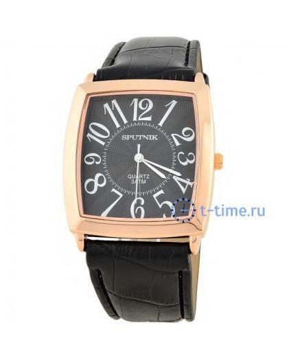 Часы СПУТНИК 857680 М корп-роз, циф-чер