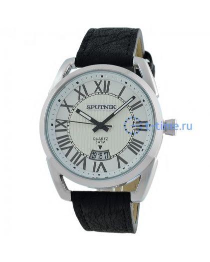 Часы СПУТНИК 400560 М корп-хр, циф-бел с сер