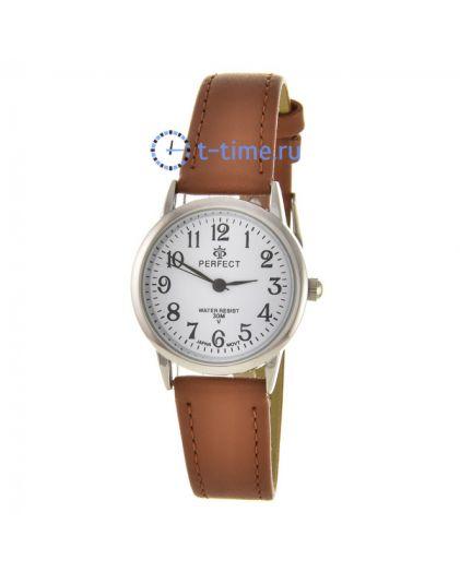 PERFECT LX052 корп-хром циф-бел кор.рем наручные часы