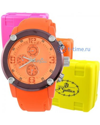 F.GATTIEN С08132 корп-оранж,циф-оранж,рем резин спорт