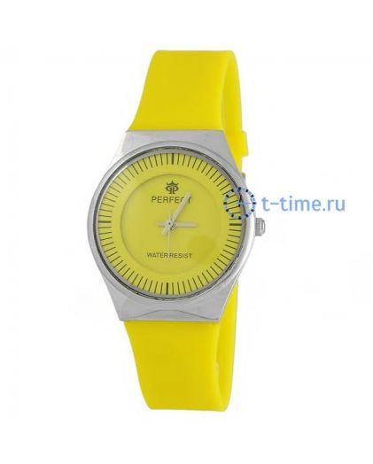 Часы PERFECT 1198 LW корп-хр,циф-жел, рем-жел