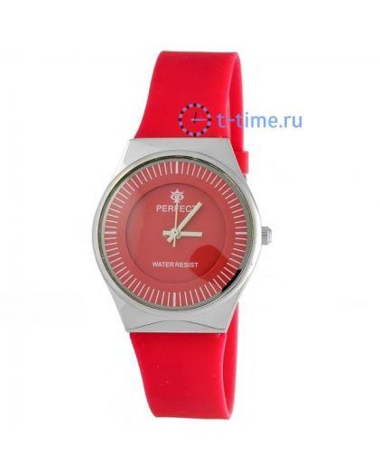 Часы PERFECT 1198 LW корп-хр,циф-крас, рем-крас