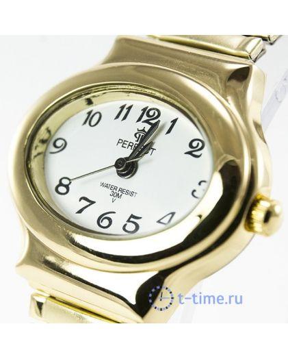 Часы PERFECT 387 Х корп-жел,циф-бел резинка