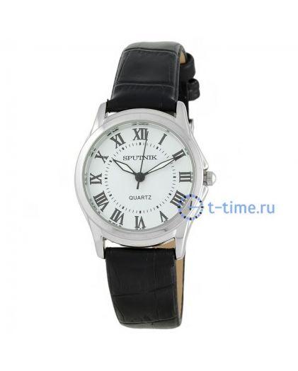 Часы СПУТНИК 200821 Л корп-хр, циф-бел