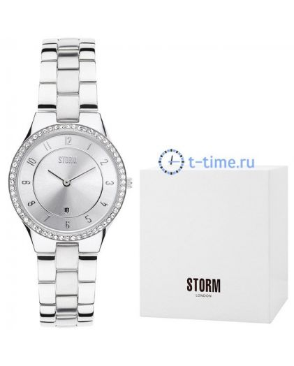 STORM slim x crystal silver 47189/s