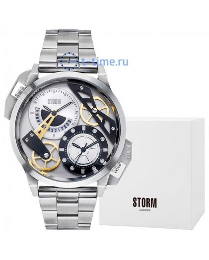 STORM dualon silver leather 47147/s/bk