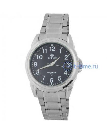 Часы PERFECT 870 P корп-хром,циф-чер
