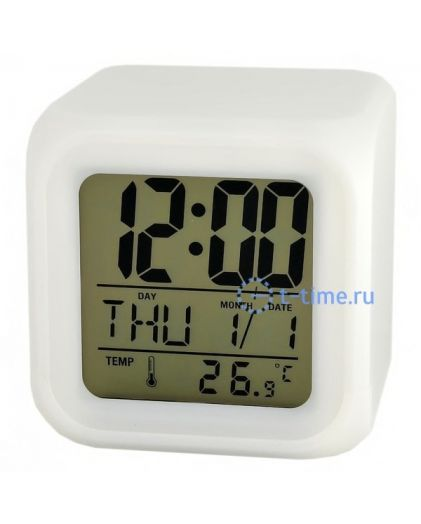 Часы Орбита TD-007 (тепмер., дата, будильник, подсветка)