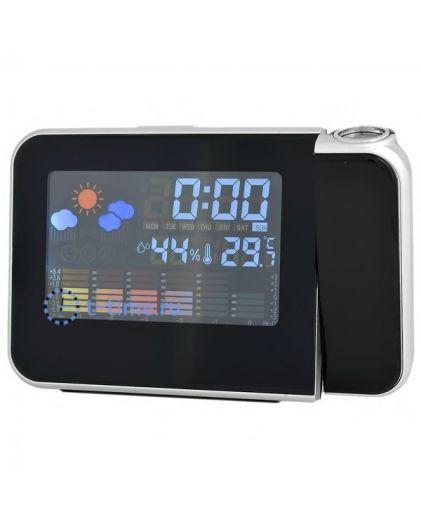 Часы Орбита BR-812 (темпер, дата)/90 настольные проекционные (от батареек)