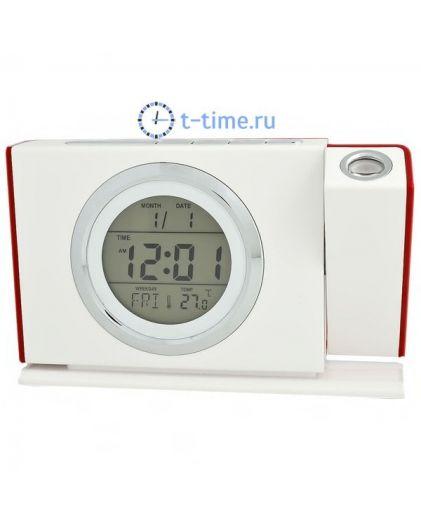 Часы Орбита BR-819 (темпер, дата, датчик звука)/60 настольные проекционные
