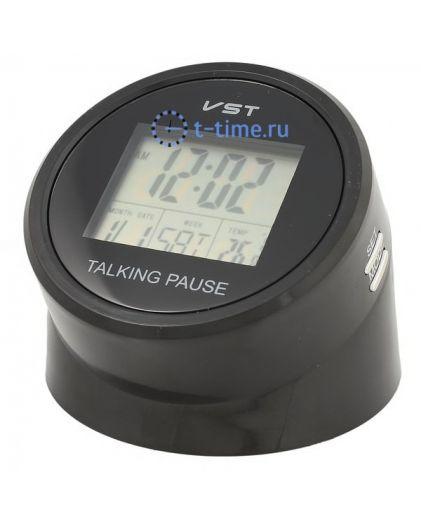 Часы Vst VST7053T часы эл.(буд., темп., говорящие)-120