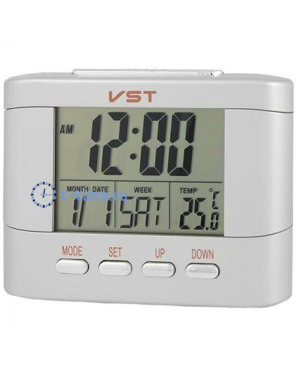 Часы Vst VST7051T часы эл.(буд., темп., дата)-100