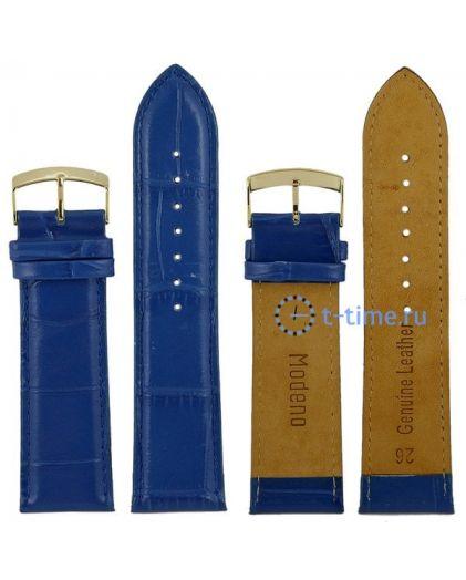 Modeno 26 мм син croco с золотой застёжкой K007 ремень