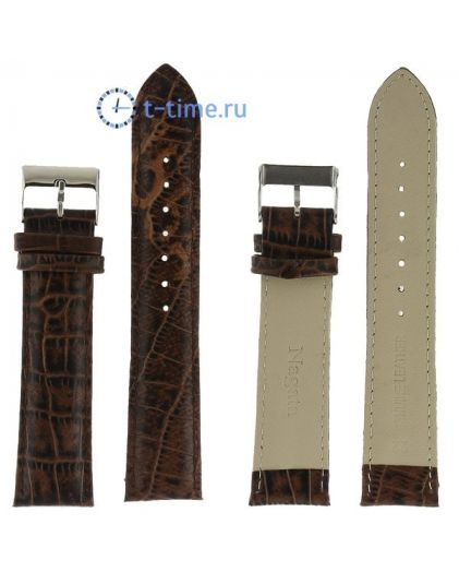 Nagata 22 мм т.кор croco с серебряной застежкой ремень