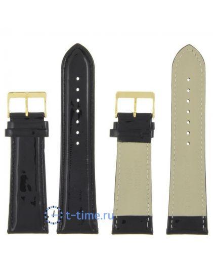 Nagata 26 мм чер лак с золотой застёжкой