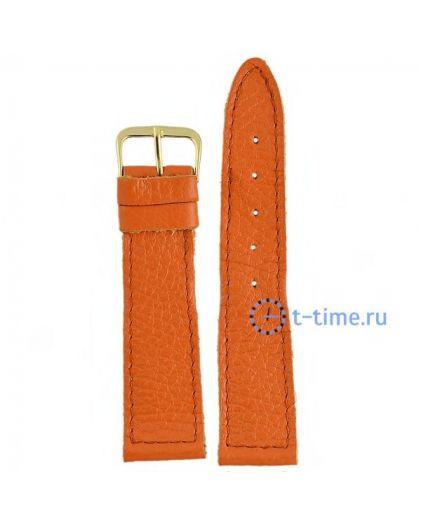 №11 мод. 22 мм оранж croco Знамя ремешок
