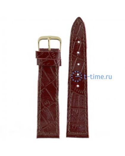 №22 мод. 20 мм бордо croco лак Знамя ремешок