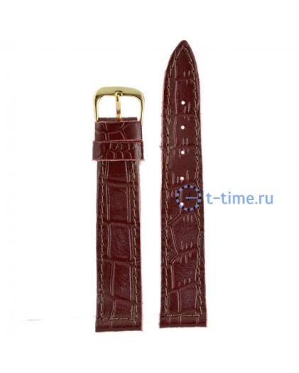 №42 мод. 18 мм бордо croco Знамя ремешок