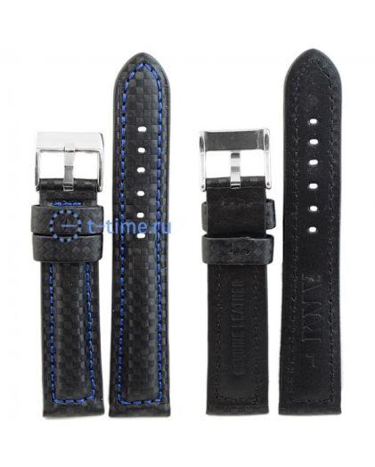 """Ремень """"KMV"""" S-374 (1.5), 20 р-р, черный с синей стр."""