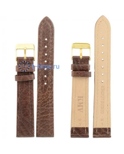 "Ремень ""KMV"" S-10, 18 р-р, т-коричневый, L"