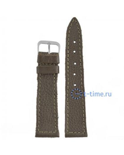 №21 мод. 20 мм темн-сер croco Знамя ремешок