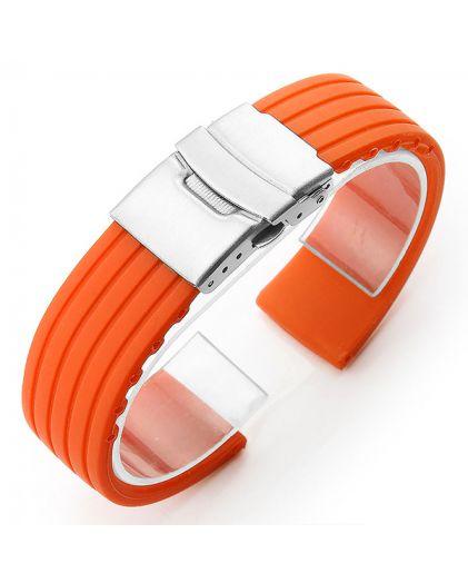 Ремешок каучук 22 мм оранжевый 22.1.55
