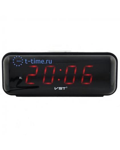 Часы сетевые Vst VST738-1 часы 220В красн.цифры-40