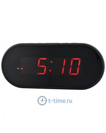 Часы сетевые Vst VST712-1 часы 220В крас.цифры-40