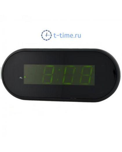 Часы сетевые Vst VST712-2 часы 220В зел.цифры-40