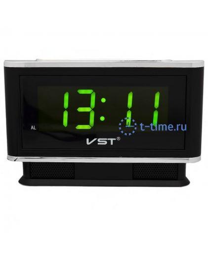 Часы сетевые Vst VST721-2 часы 220В зел.цифры-30