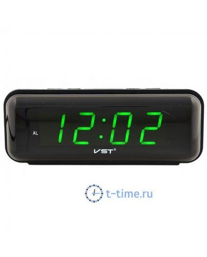 Часы сетевые Vst VST738-4 часы 220В зел.цифры-40