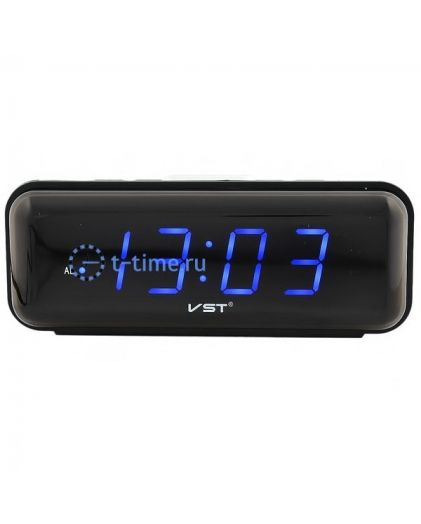Часы сетевые Vst VST738-5 часы 220В син.цифры-40