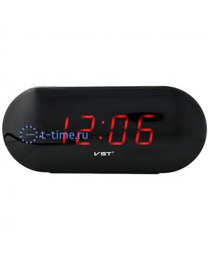 Часы сетевые Vst VST715-1 часы 220В красн.цифры-40