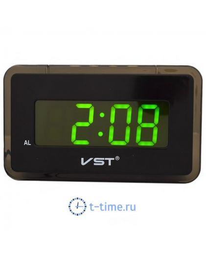 Часы сетевые Vst VST728-2 часы 220В зел.цифры-40
