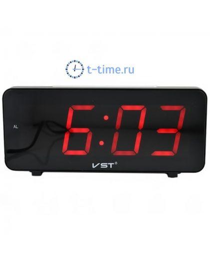 Часы сетевые Vst VST763-1 часы 220В красн.цифры-30