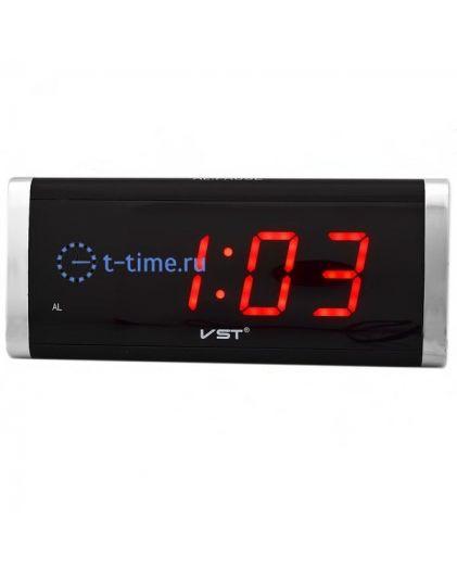 Часы сетевые Vst VST730-1 часы 220В красн.цифры-30