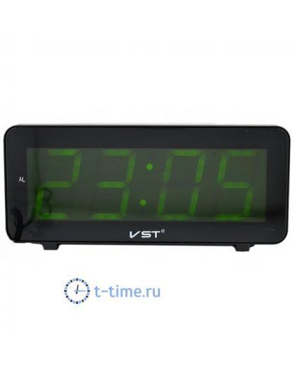 Часы сетевые Vst VST763-2 часы 220В зел.цифры-30