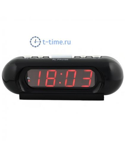 Часы сетевые Vst VST716-1 часы 220В красн.цифры-40